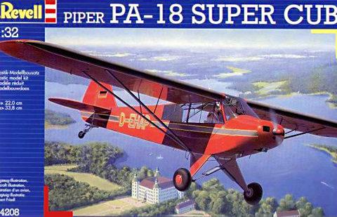 Revell plastbyggsats av Piper PA-18 Super Cub (Fpl 51) skala 1:3