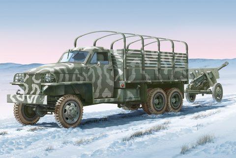 italeri-6499-lend-lease-u-s-truck-with-zis-3-gun